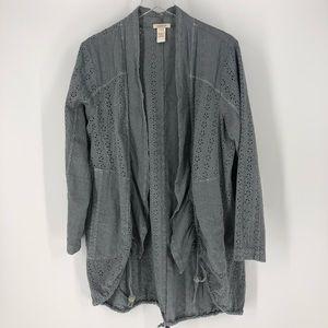 Sundance Eyelet Kimono Cardigan with Pockets